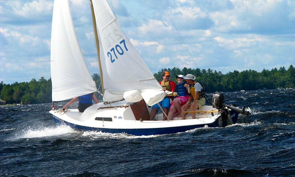 """Rent 15ft """"Tommy"""" Mariner Sailboat In Stonington, Maine"""