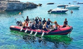 24' RIB Diving Charter in Binibeca, Spain