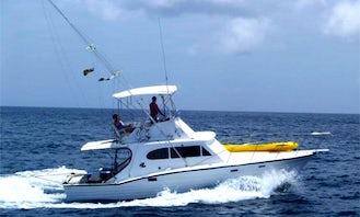 Deep Sea Fishing on 36ft Sport Fisherman Charter in St Michael, Barbados