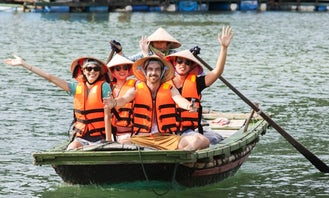 Rent a Row Boat in Tuan Chau Island, Vietnam for 4 person!