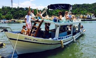 "Passenger Boat ""Sta Fe"" Trips in Paraty, Brazil"
