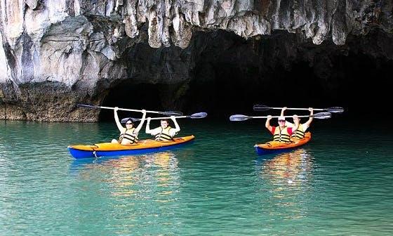 Paddle a Kayak on Halong Bay in Vietnam