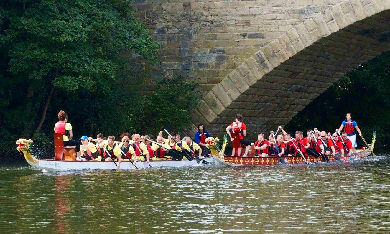 Dragon Boat Racing in River Leam