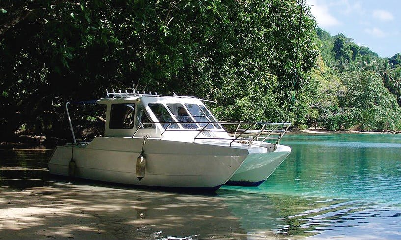 24' AlliCat Fishing Charter in Honiara