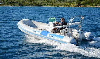 17' Maestral 480 RIB Rental in Tisno, Ital for up to 5 person