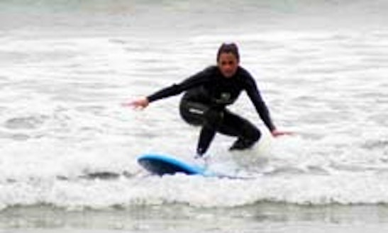 Surfing Lesson In Manhattan Beach