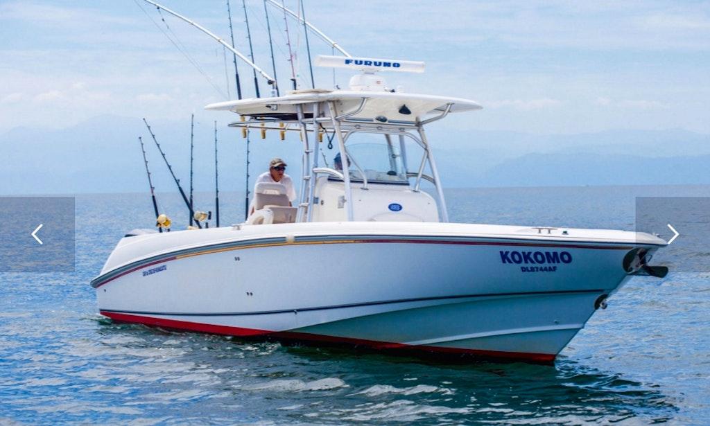 32ft kokomo boston whaler boat fishing charter in punta for Punta mita fishing