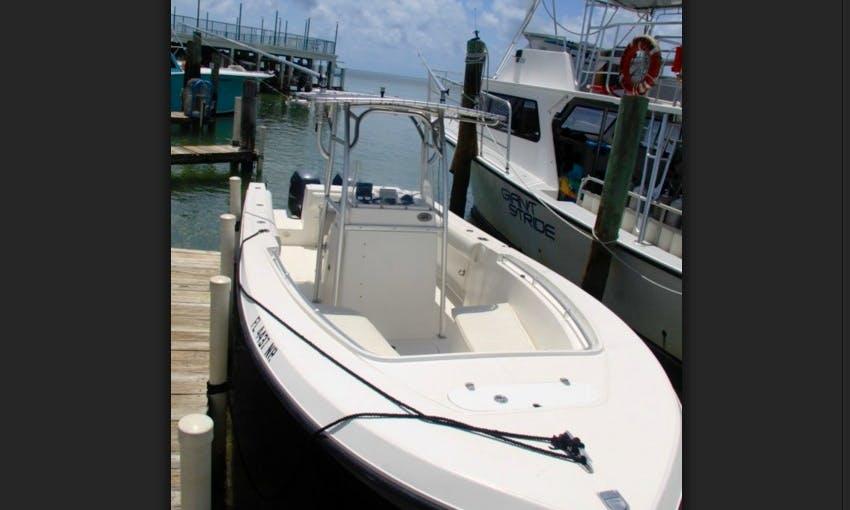 Go fishing in Islamorada, Florida on 26' Angler Center Console