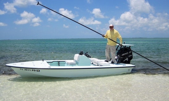 17' Flat Fishing Boat In Key West, Florida