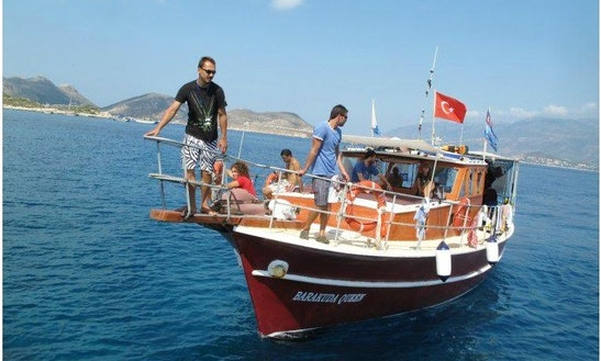Dive Boat In Turkey