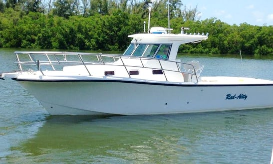 Fishing Charter On 28' True World Marine Boat In Fort Myers Beach, Florida