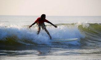 Surfing in Gokarna