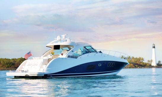 Charter 60' Pristine Sundancer Motor Yacht In Miami Beach/ft Lauderdale , Florida