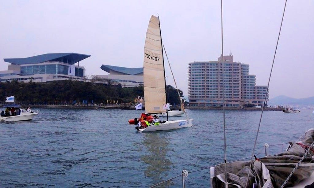 "Enjoy Busan, South Korea on 22ft ""Catalina"" Boat"