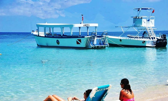 Island Boat Tour On Roatan Islands