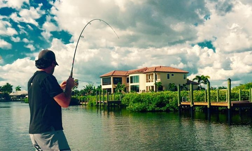 Enjoy fishing in cape coral florida on 24 39 sportman for Florida fishing license cost