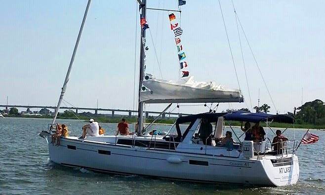 """41ft """"At Last"""" Oceanis Cruising Monohull Charter in 5 Queenstown, Maryland"""