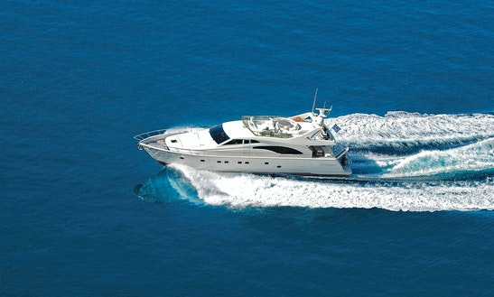 'alexandros' Ferretti Yacht Charter In Santorini