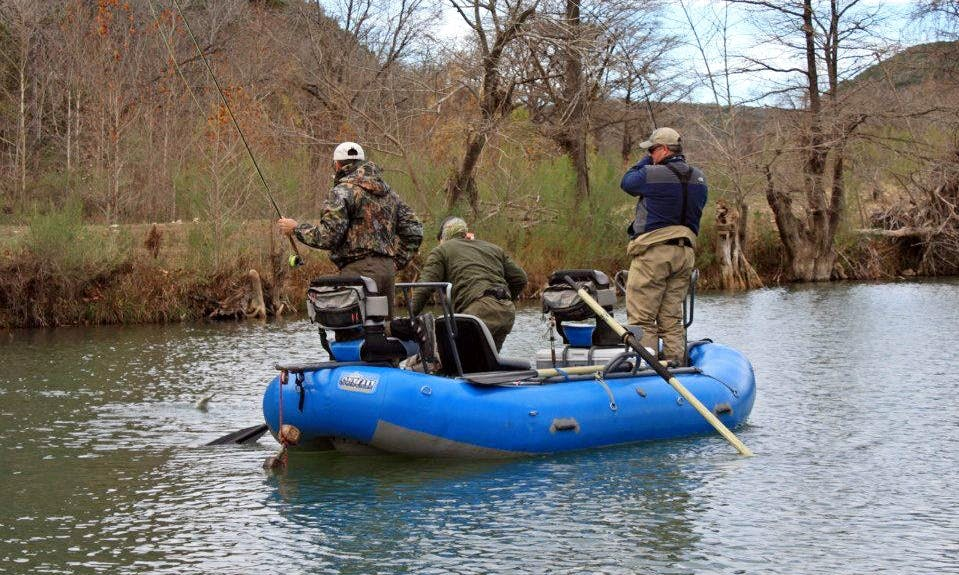 Raft Guided Fly Fishing Service in New Braunfels