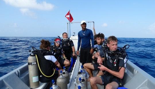 Dive Boat In Corn Island