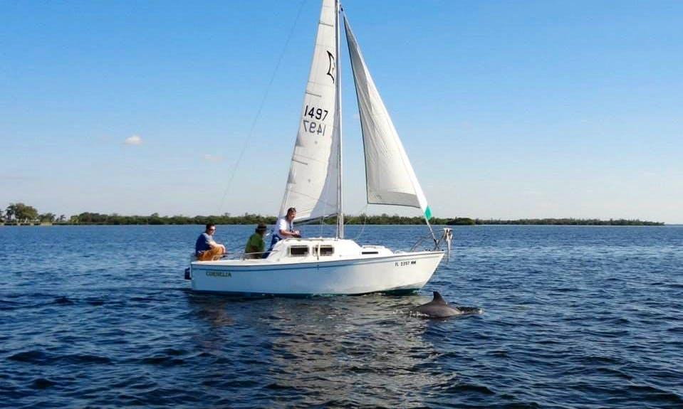 Enjoy Bokeelia, Florida On 19ft 'Cornelia' Boat Sailing Boat