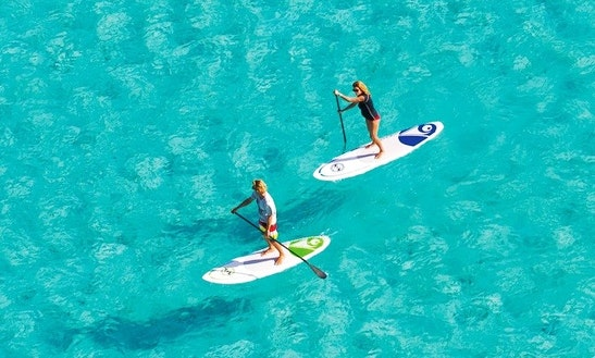 Top Brand Paddleboard Rental And Lessons With Experienced Coach In Larnaka, Cyprus