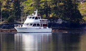 48' Motor Yacht Charter in Halibut Cove, Alaska