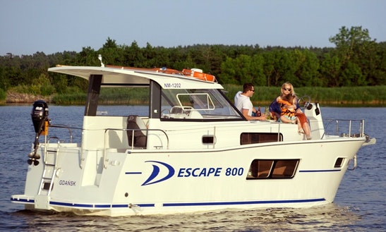 Delphia Escape 800 Motor Yacht Rental & Charter In Zagreb, Croatia