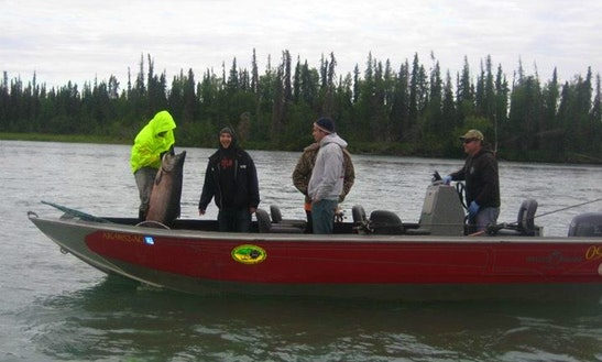 24' Bass Boat Rental In Kenai, Alaska
