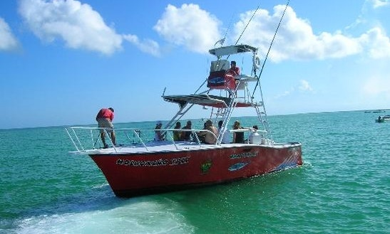 Boat Deep Sea Fishing Charter In Holbox Island