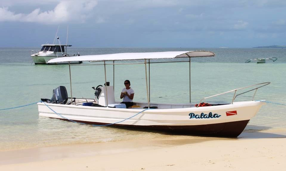 Diving boat Tour in Siargao Island
