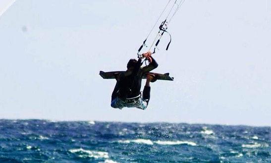 Kitesurfing In Cabeco Da Ponta, Portugal