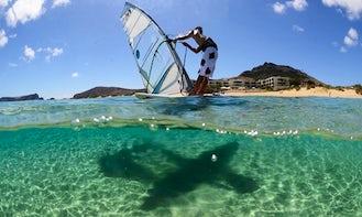 Windsurfing in Pedras Pretas, Portugal