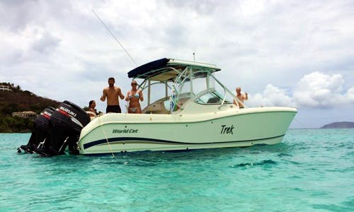 "29' Power Catamaran ""Trek"" Trips in St. Thomas, U.S. Virgin Islands"