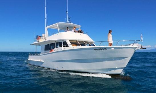 54' Motor Yacht Trips In Port Douglas, Australia