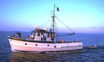 "50ft ""Hurricane"" Trawler Boat Charter in Bar Harbor, Maine"