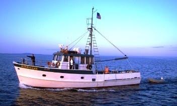 "50ft ""Hurricane"" Trawler Boat Charter in Bar Harbor, Maine"