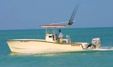 "Tampa Fishing Charter On 26ft ""Hookermharry"" Calcutta Cat Boat With Captain Harry"