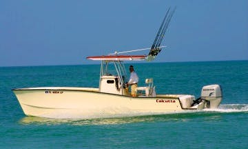 "Tampa Fishing Charter On 26ft ""Hookermharry"" Calcutta Cat Boat With Captain Harry"