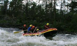 White Water Rafting Adventure On Ivalojoki River