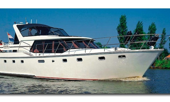 Cruise Aboard The 46' Aquacraft Motor Yacht In Langelille, Netherlands