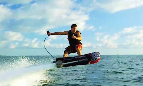 Hoverboarding in Port Melbourne, Australia