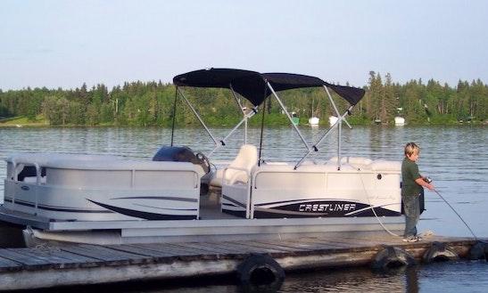 Crestliner Angling Pontoon Rental In Chitek Lake