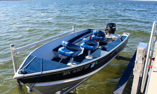 14 Ft Aluminum Fishing Boat Rental In Chitek Lake