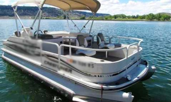 Rent 21' Pontoon Fishing Boat In White Lake, Canada