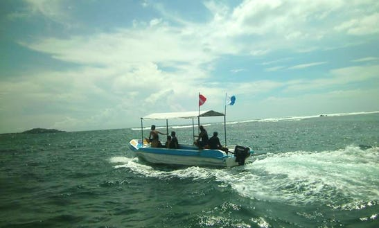 Dive Boat In Weligama