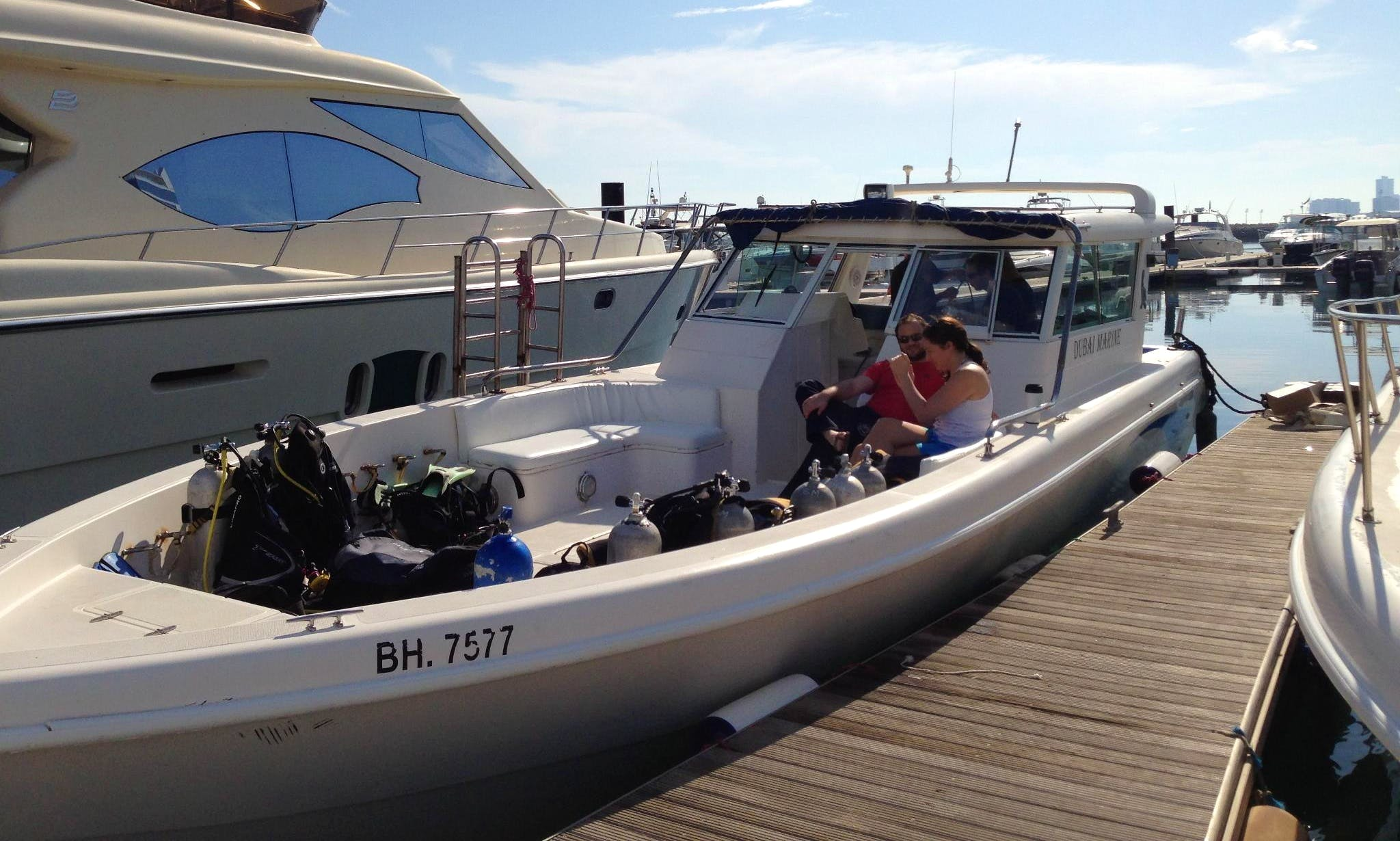 38 Foot Boat Diving, Snorkeling, Fishing Trips, Island Hopping & more in Bahrain