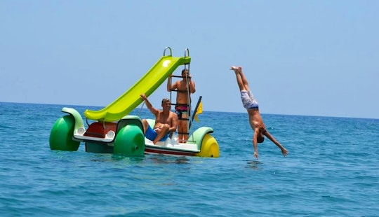 Paddle Boat With Slide Rental In Limasol, Cyprus