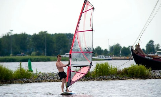 Windsurfing In Zeewolde, Netherlands