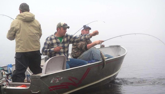 Bass Boat Fishing Trips In Kenora, Canada